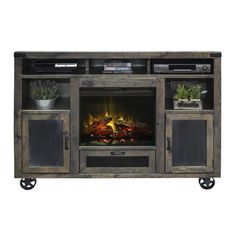 Legends Furniture Cargo TV Stand with Electric Fireplace