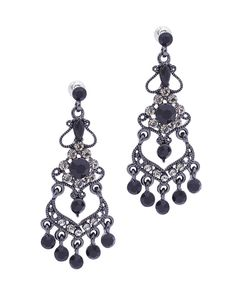Long Chandelier Earrings | Long Stone Earring - KE0171-OLIVE ...