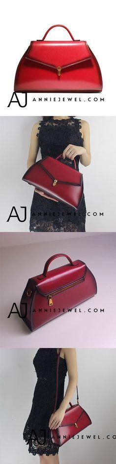 GENUINE LEATHER HANDBAG SHOULDER BAG CROSSBODY BAG PURSE VINTAGE BAG CLUTCH FOR WOMEN #leatherhandbags