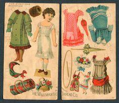 Uncut Willimantic Thread Paper Doll D2103 | eBay
