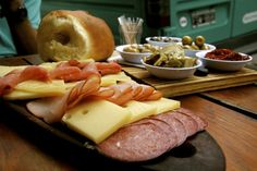 Argentine Picada: A selection of meats, cheeses, bread and pickled vegetables