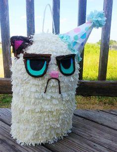 Grumpy Cat Pinata by savegreendesigns on Etsy
