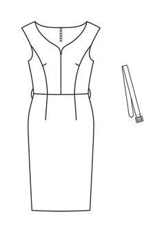 Платье - выкройка № 107 из журнала 1/2013 Burda – выкройки платьев на Burdastyle.ru