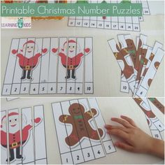 The Ultimate Christmas Printable Activity Pack Printable Christmas Number Puzzles numbers and Christmas Printable Activities, Preschool Christmas, Christmas Activities, Christmas Crafts For Kids, Christmas Themes, Christmas Puzzle, Noel Christmas, Preschool Themes, Preschool Activities