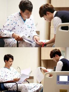 Jo In Sung and EXO's D.O. diligently practice their lines in BTS photos from 'It's Okay, That's Love'