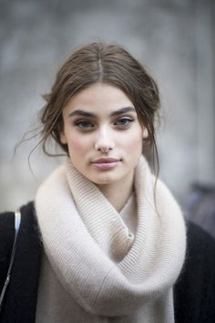 runwayandbeauty:The beautiful Taylor Marie Hill outside Dolce & Gabbana Fall 2015, Milan Fashion Week.