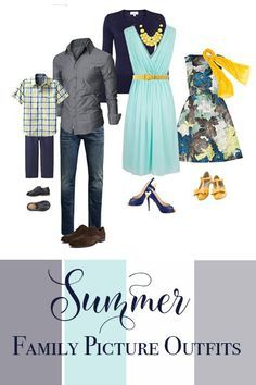 family photo outfits Everything you need to know when deciding what to wear for your summer family pictures from what colors look best, how to coordinate outfits, adding visual int Family Portraits What To Wear, Summer Family Portraits, Large Family Portraits, Family Pictures What To Wear, Family Portrait Outfits, Outdoor Family Portraits, Summer Family Pictures, Family Portrait Poses, Family Pics