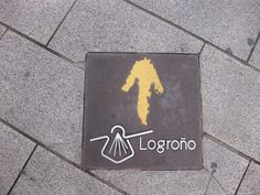 Yellow arrow in Logroño