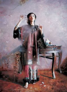 Chinese Traditional Oil Painting by Mingyue Wang http://www.interactchina.com/painting-art/