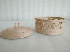 Casket Jewelry Box jute basket Boho decor Storage Box Country storage Korb Decorative Storage Jute Bowl Beige Jute The products are made of natural jute. Suitable for storing jewelry, small things. Also become an ornament of your house in the form of decor. The size of the product is