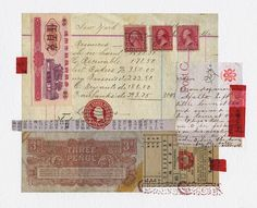 Here is another collage on paper. Week 23  incorporates lots of vintage type, tickets, postage stamps, money and washi tape. All came out of...