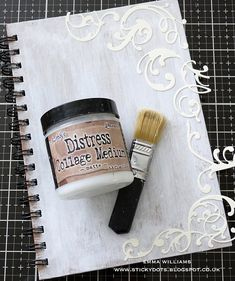 A gel medium designed for gluing, layering, and sealing mixed-media projects. Matte dries translucent to a matte finish. Distress Ink Techniques, Art Journal Techniques, Embossing Techniques, Simon Says Stamp Blog, Design Tape, E Design, Art Journal Pages, Journal Covers, Art Journals