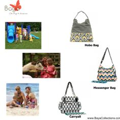 If your going to the park, zoo or the beach we have a bag for you.  #BayaCollections #chicbabybags