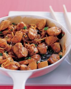 Chicken with Ginger   serve this Asian dish over Chinese noodles or steamed rice