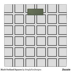 Black Outlined Squares Bathroom Scale