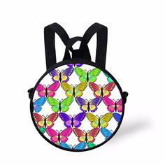 Noisy Desigs 3D Butterfly Printed Fashion Backpacks Mini Girl Boy Round Bag  Wholesale Baby Bookbag Kids 1954c1fd6080a