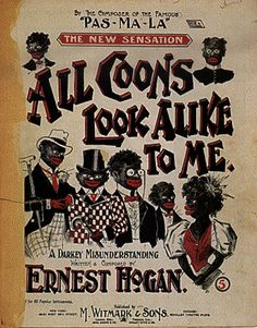 """A poster advertising a minstrel show. Although today this is highly offensive, back at that point in history it was """"entertainment"""""""
