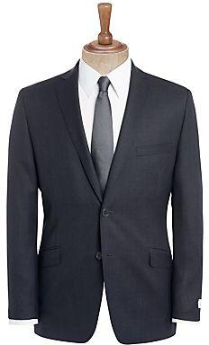 Daniel Hechter Semi Plain Suit, Charcoal