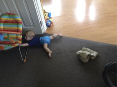 Lovely Lucas thought his Real Nappies were too cute to hide under his shorts ; )