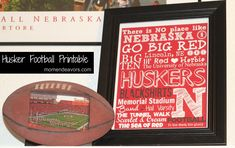 FREE Husker Football Printable via momendeavors.com #Huskers #Nebraska