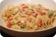 Vega: Spaghetti In Romige Paprika Kaassaus