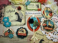 Graphic 45 Couture Handmade Paper by mydivineinspiration on Etsy
