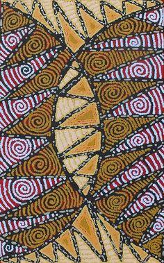 Angelina Nampijinpa Tasman ~ Ngapa Jukurrpa (Water Dreaming), Pirlinyarnu