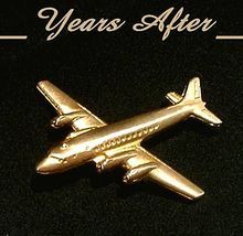 Vintage Vermeil STERLING Silver Airplane Pin Brooch Hallmarked c.1940's!