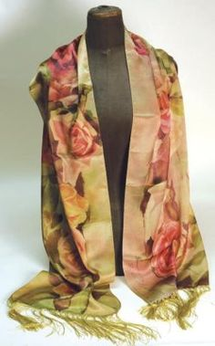 Faded Roses Sixfoot Silk Scarf Victorian Trading Co. Tea Gown, Victorian Fashion, Victorian Era, Vintage Tea, My Outfit, Feminine, Gowns, Silk, My Style