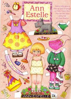 (⑅ ॣ•͈ᴗ•͈ ॣ)♡                                                             ✄Ann Estelle paper doll by mary engelbreit