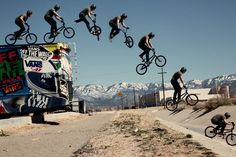 vansbmx:  In early 2010 the Vans team hit the road throughout Arizona and New Mexico. Scotty Cranmer couldn't resist jumping off the bus into the ditch we were riding. He decided to tailwhip it on his first drop and he pulled it perfectly. It was a moment where we all looked at each other and thought… Did that just happen? Yes it did and Scotty scored the cover of Ride BMX. Pic: Colin Mackay