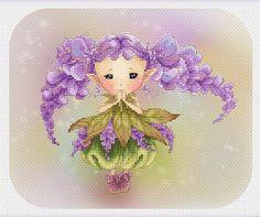 Cross stitch Chart Pattern Flower sprite Glicine Sprite