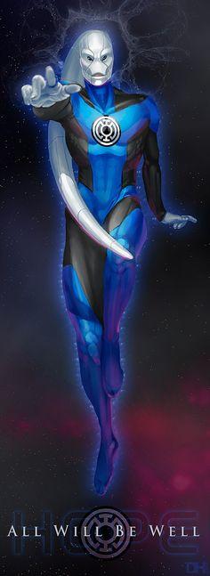 Blue Lantern Corps Saint Walker by xxdhxx.deviantart.com on @deviantART