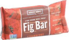 Nature's Bakery Stone Ground Whole Wheat Fig Bar - Strawberry - 2 Oz - Case Of 12 Fig Bars, Snack Bar, Blueberry, Dairy Free, Bakery, Berries, Strawberry, Snacks, Stone