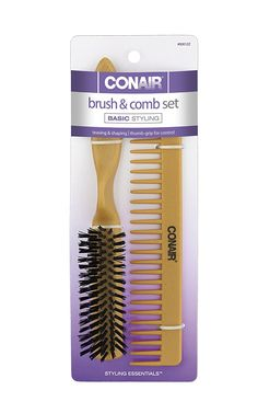 Conair Simulated Wood Thumb Grip Nylon Volume Comb Set -- Check this useful article by going to the link at the image. #hairhowto