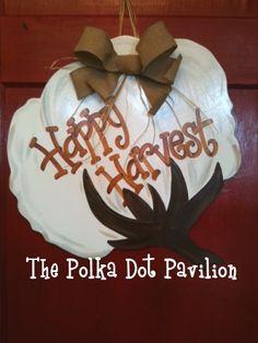Cotton Boll Door Hanger: polka dot pavilion