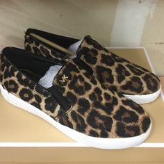 Michael Kors Shoes Brand New in box. Size 6. Real fur dyed cow hair calf. Michael Kors Shoes Sneakers