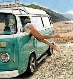 It's in here somewhere beach cutoffs vw Volkswagen combi fashion summer style denim jeans spring Bus Vw, Volkswagen Transporter, Transporteur Volkswagen, Vw T1, Combi Vw T2, Combi Ww, Vw Caravan, Vw Camper, Honda Shadow