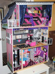 Check out the New Monster High doll house!! Emery and I worked on this together to get it just right! Gouls Rule!!