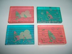 Citation 1980's Windsurf Jelly Style eraser set | by vamp_angel555