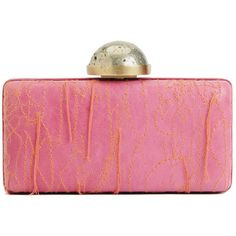 Kelly Wearstler Embroidered Clutch ($495) ❤ liked on Polyvore