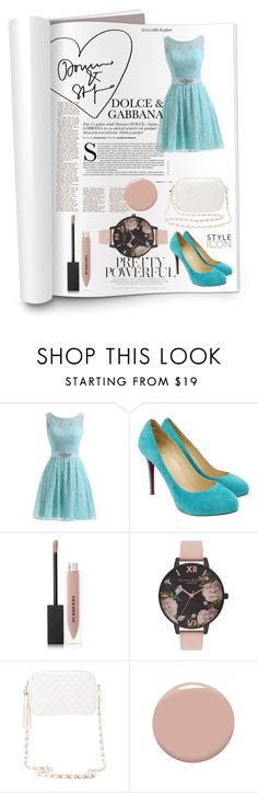 """""""Журнал VOGUE"""" by dashamo ❤ liked on Polyvore featuring Christian Louboutin, Burberry, Olivia Burton and Charlotte Russe"""