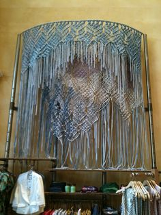 macrame display (Anthropologie), by  Jessica Pezalla / Bramble Workshop