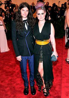 Met Gala 2013: Celebrity Costume Ball Red Carpet: Matthew Mosshart and Kelly Osbourne