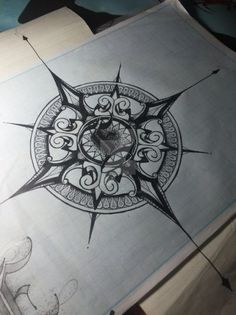 Mandala Compass Design by mandala-for-a-life