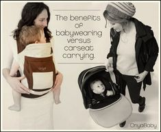Carrying your baby in a baby carrier is better for your baby and better for you {from Onya Baby}