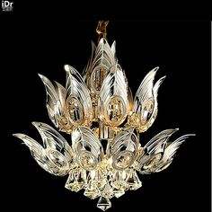 598.00$  Watch here - http://ali0gx.worldwells.pw/go.php?t=32647695125 - Lotus restaurant study LED lamp modern European Art Crystal Chandeliers wwy-0076 598.00$