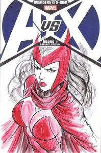 A gallery of 10 Avengers vs X-Men #1 Sketch Covers from artist VInce Sunico for our upcoming AvX Launch Party at Stadium Comics