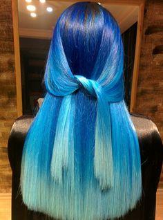 Saç yapımcı : Hasan Aydın #bluehair #mavisaç
