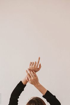Arms reaching up in front of plain background by Lyuba Burakova - Arm, Copy space - Stocksy United Hand Photography, Minimal Photography, Jewelry Photography, Aesthetic Women, Aesthetic Images, Aesthetic Photo, Book Cover Background, Beach Vibes, Hand Pose